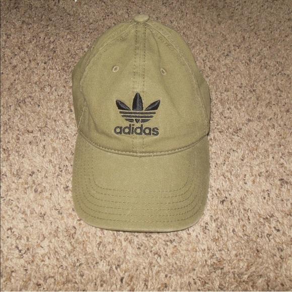 a02ed159d585e adidas Accessories - Adidas Army Green Basecall Cap